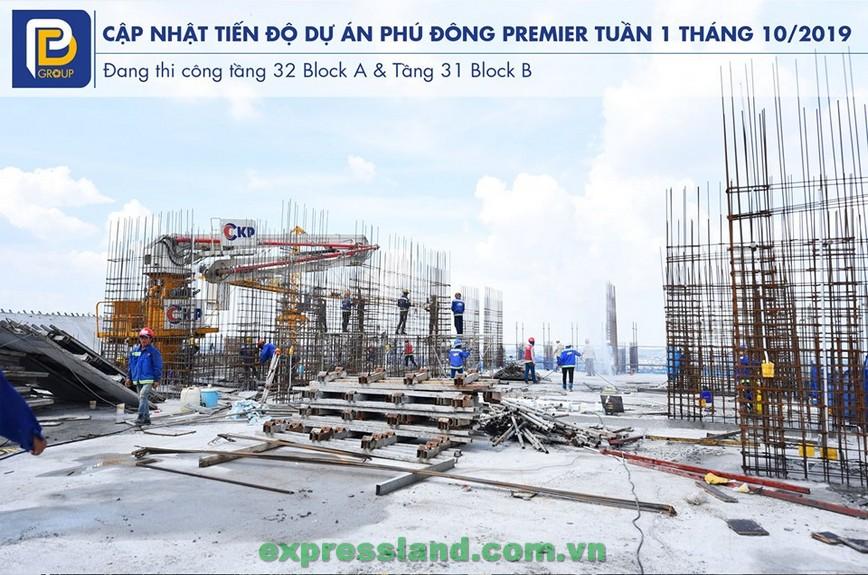 Toản cảnh tiến độ dự án Phú Đông Premier Tuần 1 tháng 10/2019.