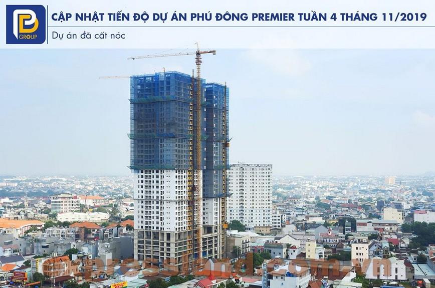 Căn hộ Phú Đông Premier đã hoàn thiện tại công trường thi công 11/2019
