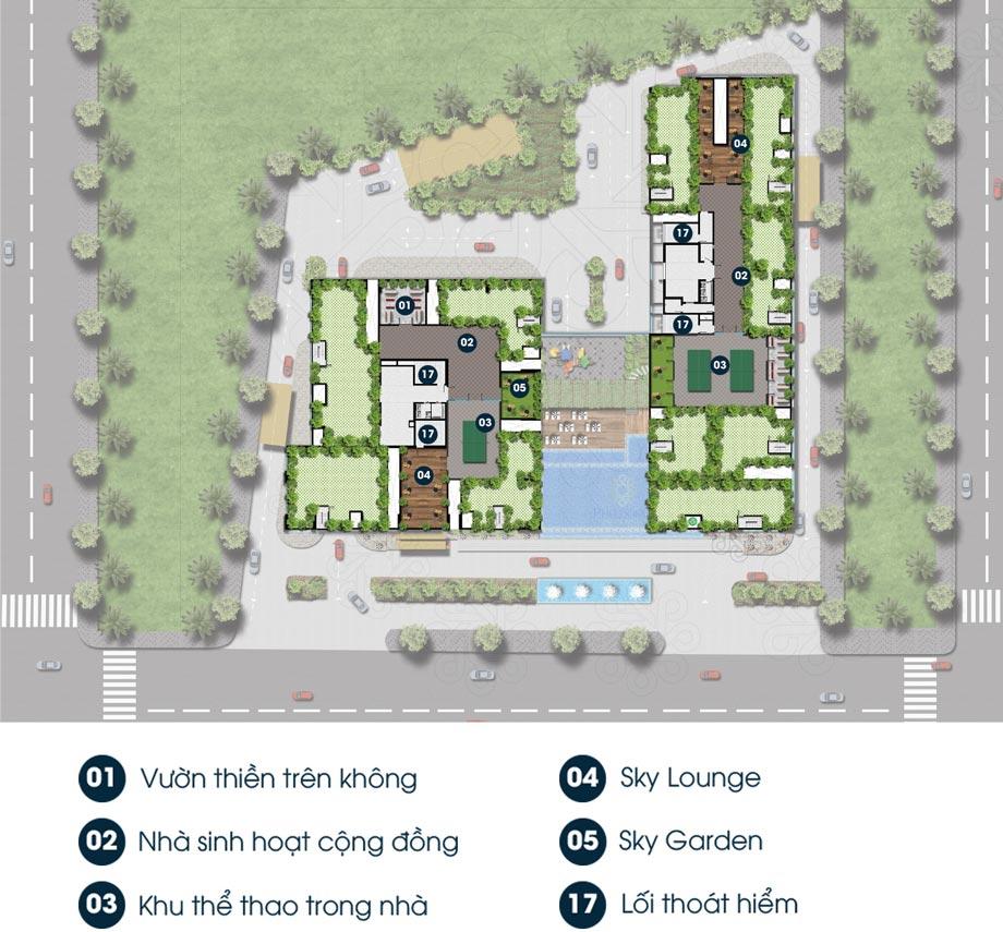 Hình mặt bằng thương mại căn hộ Phú Đông Premier